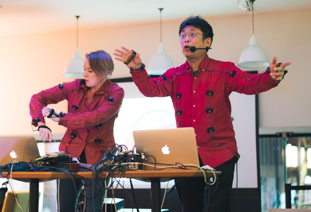 Hannah and Tomomi performing at Hit the Ode, Verve Poetry Festival, Birmingham